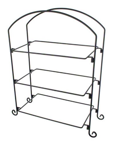 American Metalcraft (IS13) Three Tier Ironwork Stand For Rectangular Plates And Baskets