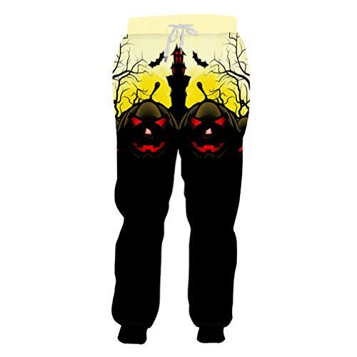 Halloween Horrible Red Eye Man Sweatpants 3D Printed