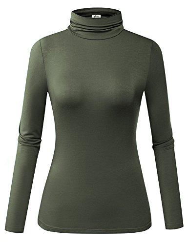 秋冬打底穿太棒了! 女士高领长袖T恤闪购价$16.99!