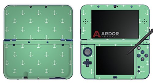 teal-pastel-anchors-nintendo-3ds-xl-skin-decal