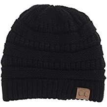Yourstyle USA Trendy Warm Chunky Soft Stretch Cable Knit Slouchy Beanie
