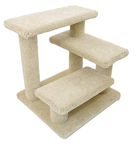 New Cat Condos Solid Wood Pet Stairs, Large (Trees Hours Store Trends And)