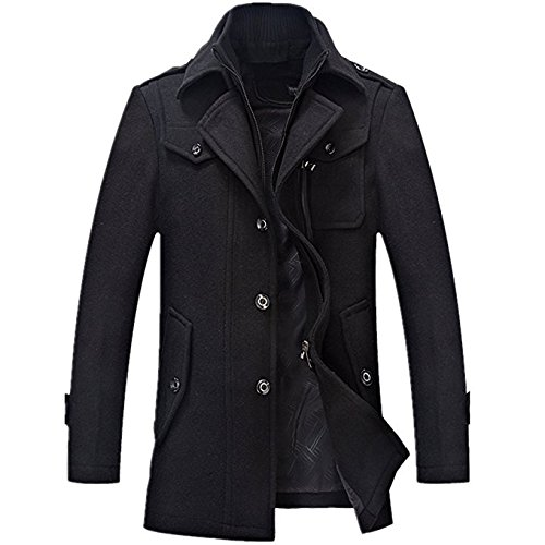 Yougao-Mens-Winter-Thicken-Warm-Stand-Collar-Wool-Coat