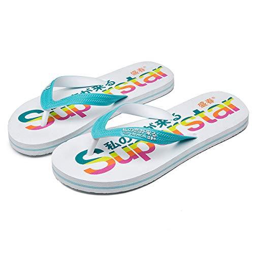 Adokoo Womens Flip Flops Casual Beach Slippers EVA...