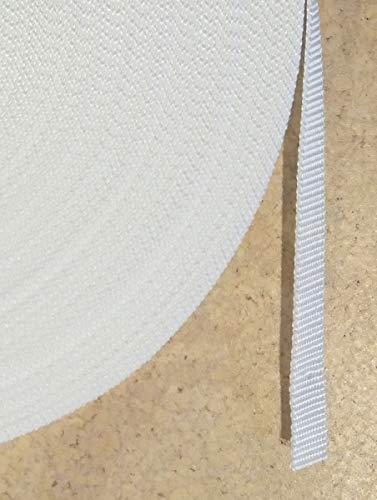 hohe Rei/ßfestigkeit Perlonkantenschutz UV Best/ändigkeit weiss 50 m Rolle Rolladengurt Schmutzunempfindlichkeit spezial Breite 14 mm beste Scheuerfestigkeit