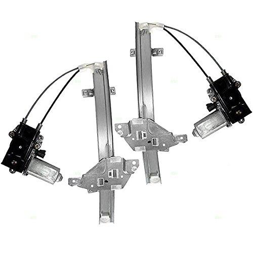 Buick Regal Power Window Regulator - Driver and Passenger Rear Power Window Lift Regulators & Motors Assemblies Replacement for Buick Oldsmobile 10334399 10334398