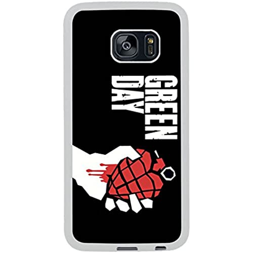 Galaxy S7 Edge Case,Green Day Punk Rock Band Ted Heart Grenade White Premium Hybrid High Impact *Shock Absorbent Sales