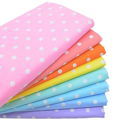 Fabric Dot Polka Cotton - iNee Polka Dot Fat Quarters Quilting Fabric Bundles, Quilting Fabric for Sewing Crafting,18 x22 inches,(Medium Dots)