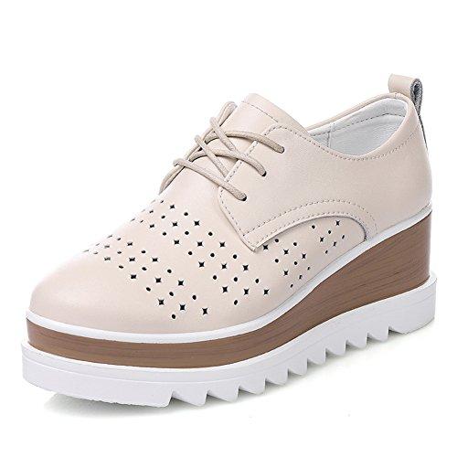 Casual Zapatos Plano Espesar Primavera zapatos De calzado Plataforma Finos B zapatos Cuero Brock Viento Inglaterra qOwnpgHO