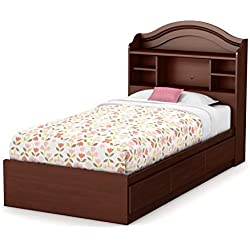 "South Shore Basic 10577 39"" Mates Bed with 3 Drawers, Twin, Royal Cherry"