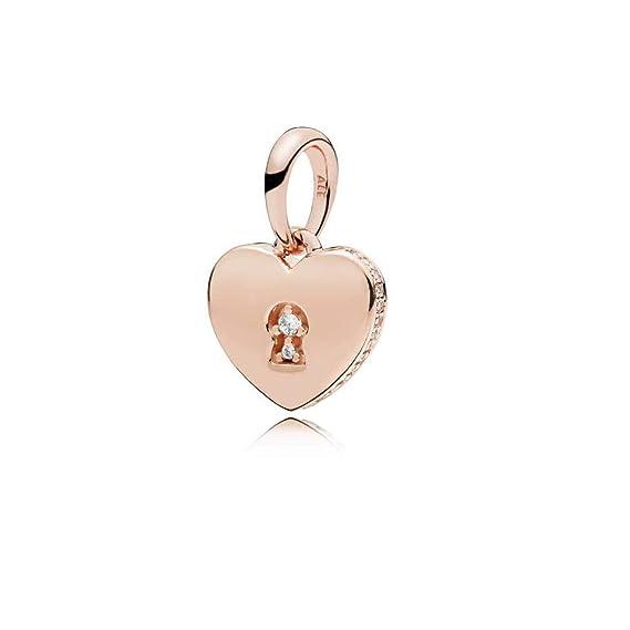 39756ee99 Amazon.com: Pandora Rose Shimmering Keyhole Pendant 387687CZ: Watches