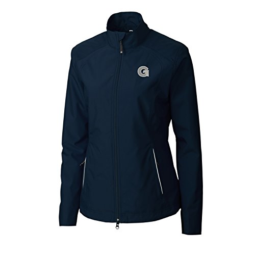 (Cutter & Buck Adult Women CB Weathertec Beacon Full Zip Jacket, Navy Blue, XX-Large )