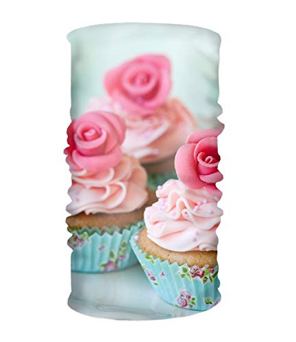 Balaclava Flowers Pink Cupcake Outdoors & Daily Headwear, Neck Gaiter, Bandana, Helmet Liner ()