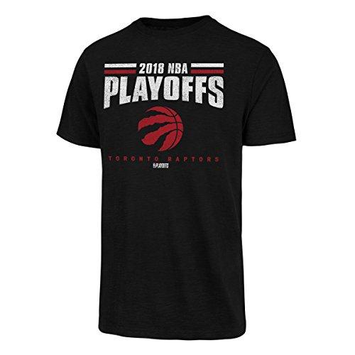 OTS NBA Toronto Raptors Male NBA 2018 Playoffs Men's Slub Tee Distressed, Jet Black, Large
