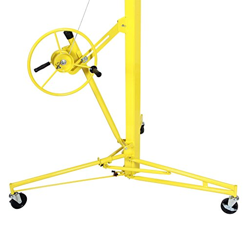Idealchoiceproduct 16' Drywall Lift Rolling Panel Hoist Jack Lifter Construction Caster Wheels Lockable Tool Yellow by Idealchoiceproduct (Image #4)