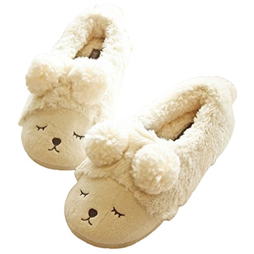 Halluci Womens Gezellige Fleece Memory Foam Huis Trick Or Treat Halloween Slippers The Sheep Cream