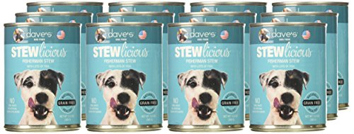 Image of Dave'S Stewlicious Fisherman Stew For Dogs, 13 Oz Can (Case Of 12 )