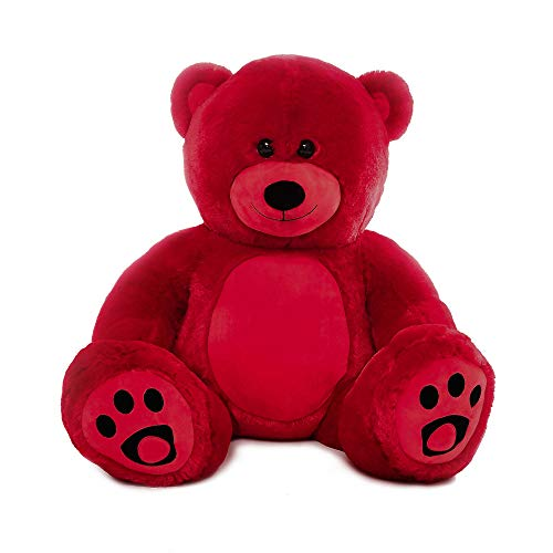 WOWMAX 3 Foot Giant Teddy Bear Danny Cuddly Stuffed Plush Animals Teddy Bear Toy Doll for Birthday Christmas Red 36 Inches from WOWMAX