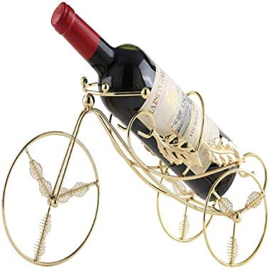 CHUNSHENN ワイン収納 シャンパンホルダー ヴィンテージワインラック装飾、錬鉄製のワインラック、ワインラック34 * 17.5 * 14センチメートル 置物 実用的 工芸品