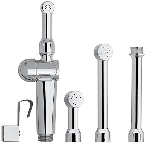 Aquaus 360 Bidet''SPRAY WAND ONLY''   NSF Certified - 3 Year Warranty - American Made -Dual Thumb Pressure Controls - Ceramic Disk Seals - BRASS Body - Brass Valve Core - Includes 5'' inch Extension by RinseWorks