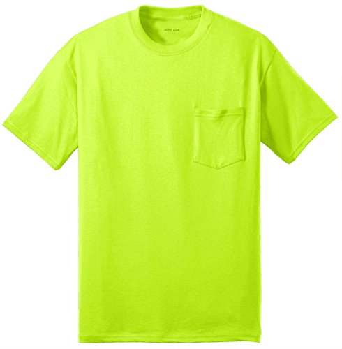 Joes USA Mens 50/50 Cotton/Poly Pocket T-Shirts in Regular, Big and Tall Sizes
