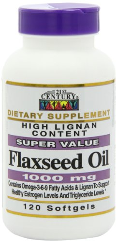 21st Century Flaxseed Oil 1000 mg Softgels, 120 Count by 21st Century (Image #10)