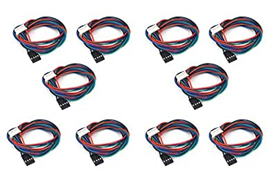 Karcy 10pcs 100cm XH2.54 Female to Female 3D Printer Dopont Cable for Nema17 Stepper Motor