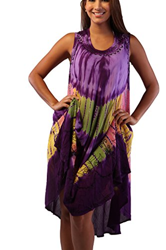 Ingear Umbrella Dress Batik Caftan Tank