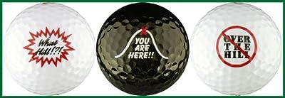 What? / No Hill Birthday Variety Golf Ball Gift Set