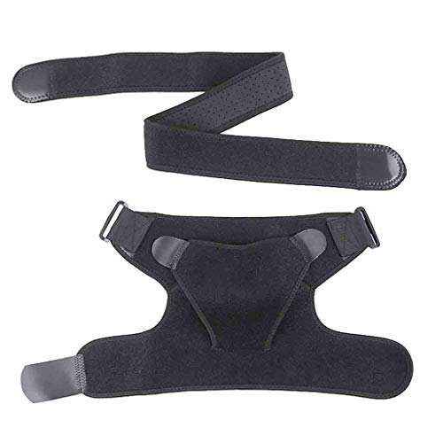 Hongxin Shoulder Stability Brace, Rotator Cuff Pain Relief Support Adjustable Belt Sleeve Men Women,Suitable for Sprains,Strains, Dislocation Shoulder and Arthritis Pain ()