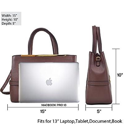 Dasein Frame Tote Top Handle Handbags Designer Satchel Leather Briefcase Shoulder Bags Purses