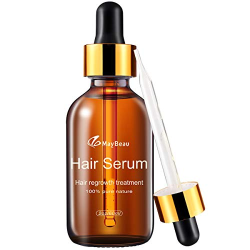 MayBeau Hair Growth Serum, 2 fl.oz Hair Growth Treatment Oil for Men & Women - Natural Herbal Essence Hair Loss Thinning Treatment, Restore Thick and Strong Hair in 30 Days