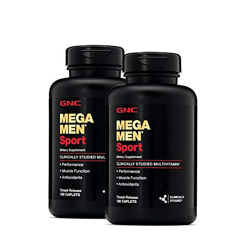 GNC Mega Men Sport Multivitamin for Men, 2 Pack, 360 Count, for Performance, Muscle Function, and General Health