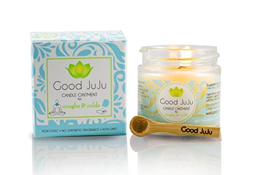 (Good JuJu Apothecary All Natural Breathe Easy Organic Chest Vapor Rub Treatment Balm. Natural Decongestant: Soothes Stuffy Nose, Cough, Cold, Allergies, Virus or Flu. Organic Oregano and Eucalyptus.)