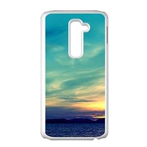 Sunrise Sky White Phone Case for LG G2 Case
