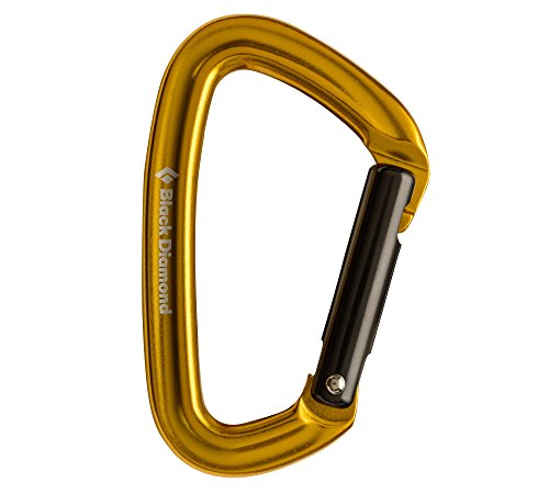 Black Diamond Positron Anodized Carabiner - Straight Gate Yellow