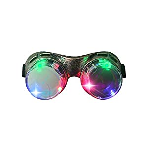 M AOMEIQI Light Up Glasses, LED Glasses for Class Events School Evening Club Activities Corporate Events Million Night Party Games Cheer, LED Goggles Bronze