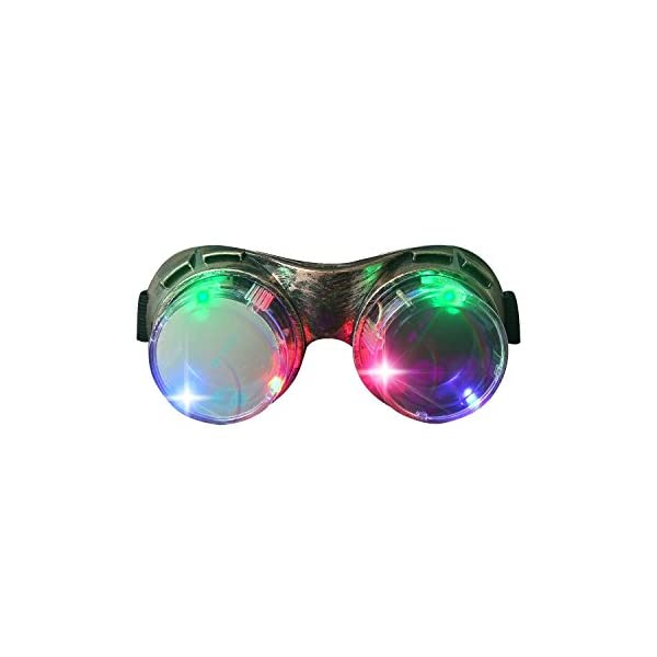 M AOMEIQI Light Up Glasses, LED Glasses for Class Events School Evening Club Activities Corporate Events Million Night Party Games Cheer, LED Goggles Bronze 3