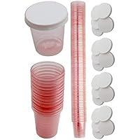480 Vaso de medicación con 480 Tapa Vasos