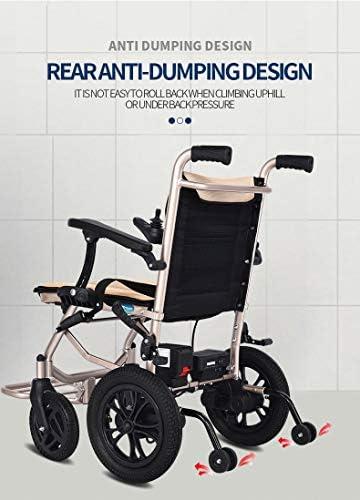 実用的 電動車椅子折りたたみ軽量16キロ、シート幅45CM、リムーバブルリチウム電池モビリティ椅子、電動車椅子、手すり調節可能な6つのファイル 福祉