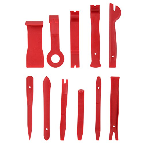 Quwei Panel Removal Tool 11 Pcs Premium Auto Trim Upholstery Removal Kit Easiest To Use Fastener Remover For Door Trim Molding Dash Panel Composite Body Installer Pry Scraper Fastener Panel Molding