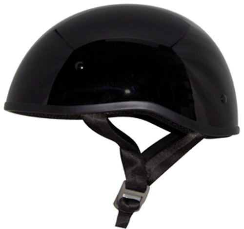 - Zox Retro Old School Open Face Helmet (Glossy Black, Small)