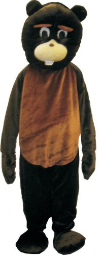 Beaver Mascot Costume Set - Adult