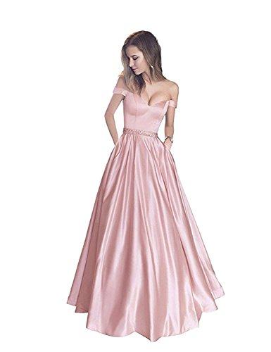 Pearl Stillluxury Corte Long Maniche Linea Donna Ad Pink Vestito A rzcCr0q