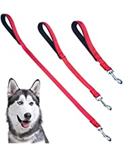 PUPTECK Reflective Short Dog Leash - 3 Packs 2.5ft/ 1.5ft/ 1ft Nylon Dog Leash with Strong Clip, and Soft Padded Handle, Durable Training Leash for Small Medium Large Dogs Cats Walking Outside