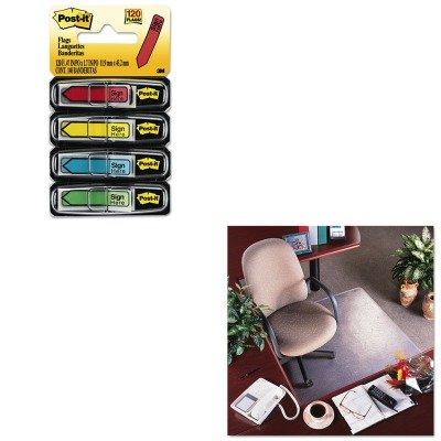 KITDEFCM15113MMM684SH - Value Kit - Deflect-o RollaMat Vinyl Chair Mat for Med Pile Carpet (DEFCM15113) and Post-it Arrow Message 1/2amp;quot; Flags (MMM684SH)