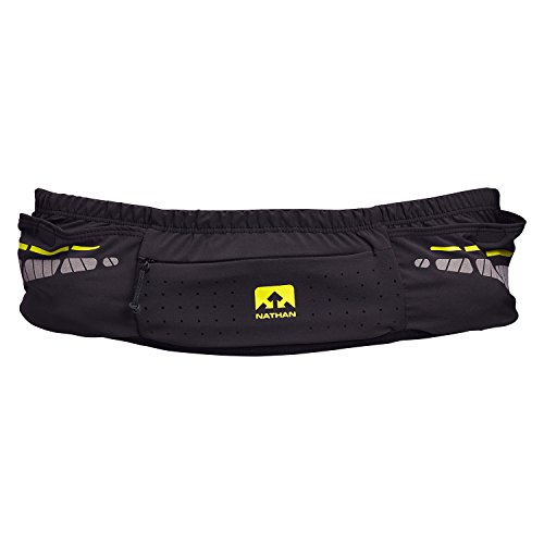 Nathan NS4913 Vaporkrar Running Fitness Waist Pack with Soft 18oz Flask, Black, Small/Medium