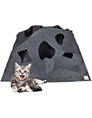 Cat Activity Play Mat Collapsible Pet Rug Training Scratching Grooming Bed Mat