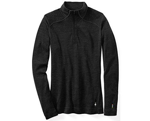 SmartWool Women's NTS Mid 250 Zip Top, Charcoal Heather, LG (Merino Wool Zip Top)