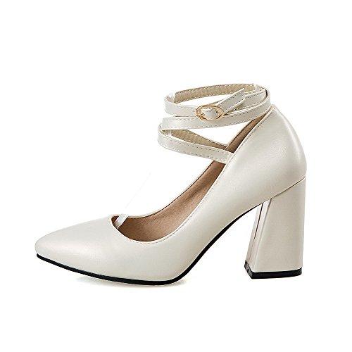 Unie Chaussures Légeres VogueZone009 à Super Haut Fibre Couleur Femme Beige Talon w0U8q1Rw